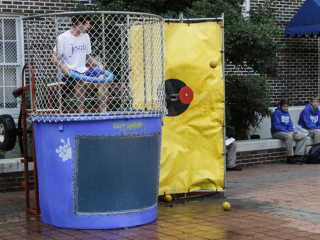 Homecoming Week Dunking Booth, Oct. 5, 2016
