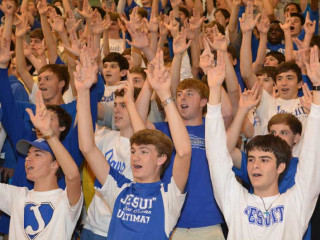 Pep Rally, State Football, Dec. 4, 2014